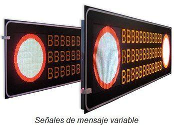 señales de mensaje variable tunel