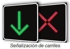 señalización de carriles