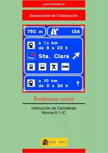 Portada norma 8.1-IC Señalización vertical