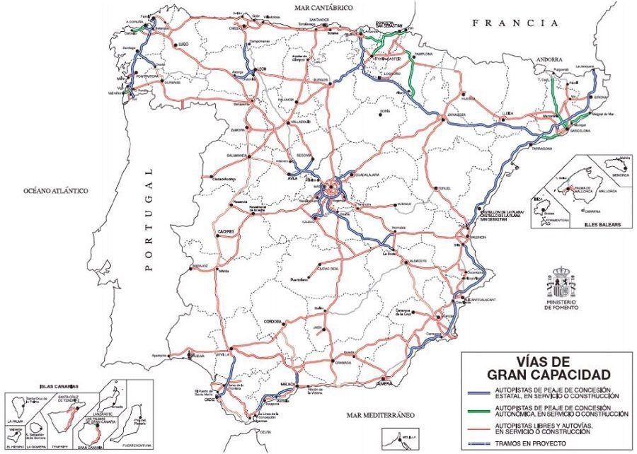 Red de carreteras de peaje
