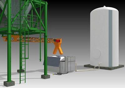 Fabricación y depósito de salmuera