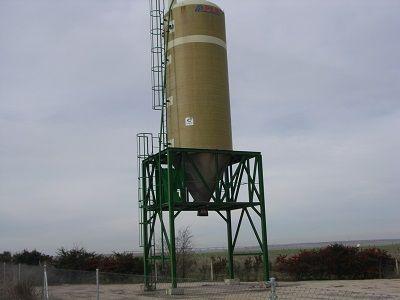 Cloruro sódico en silo