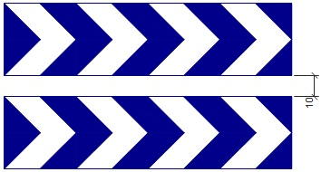 Panel direccional doble largo