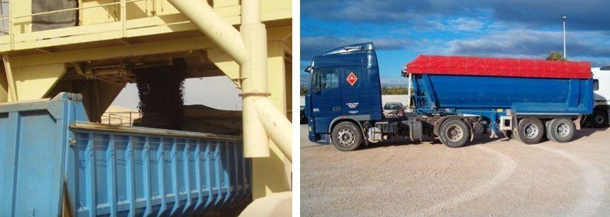 carga en camión y transporte