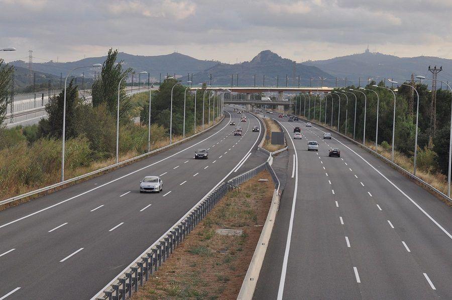 Sección tipo de una carretera