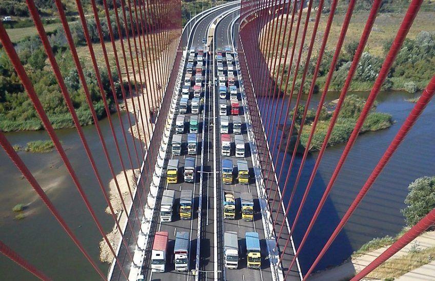 prueba de carga en puentes de carretera de carretera
